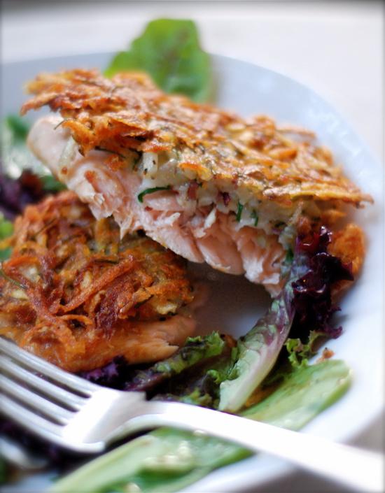 Potato crusted salmon chindeep for Potato crusted fish