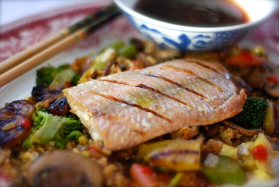 grilled salmon fried rice