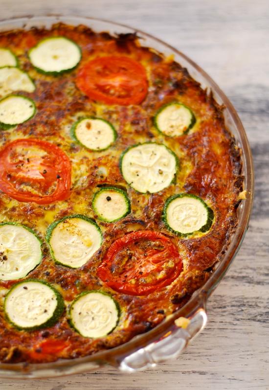 Vegetable Pie With A Zucchini Crust Recipe — Dishmaps