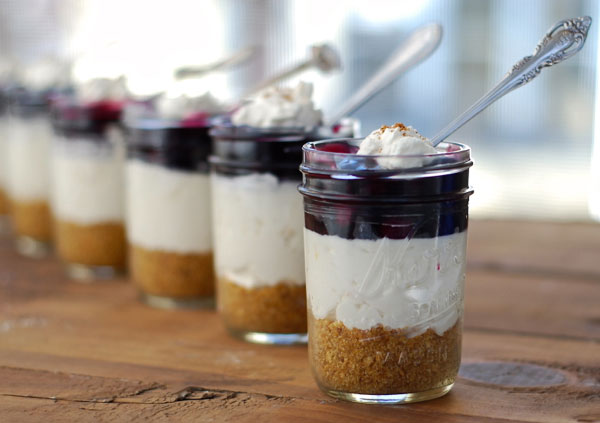 Cake In A Jar Recipe No Bake: No Bake Blueberry Cheesecake In A Jar