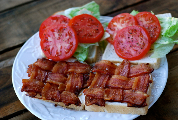 "bacon in every bite"" woven blt sandwich 