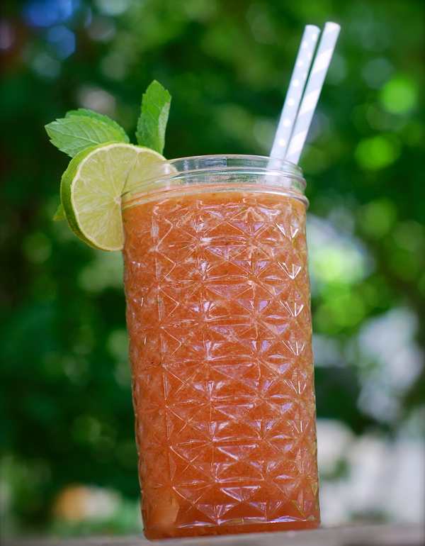 melon mint lime agua fresca | ChinDeep