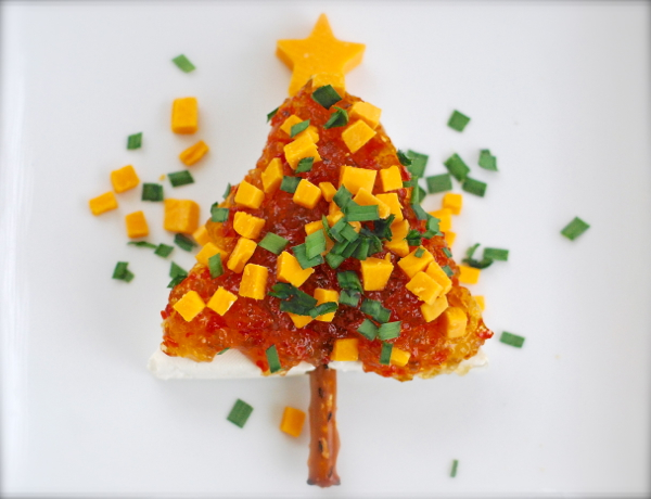 Cream cheese christmas tree appetizer chindeep - Christmas tree shaped appetizers ...
